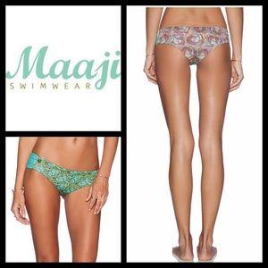 Maaji Secretariat Bikini Bottom in Aqua & Multi